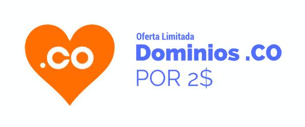 Dominios .co por 2 $, hasta el 26 de Julio 2017