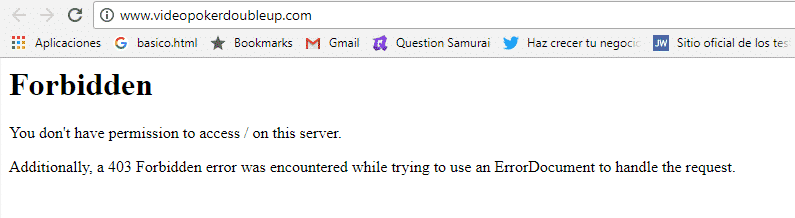 "Mi web muestra ""Forbidden"" error 403"