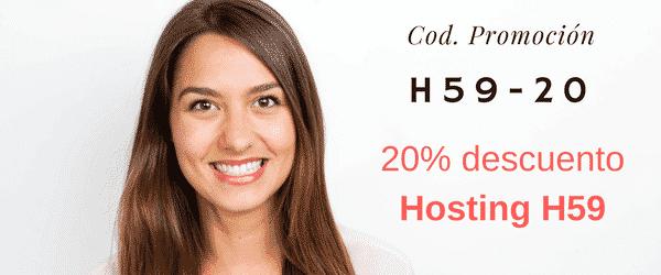 20% de descuento en Hosting H59, Hasta el domingo