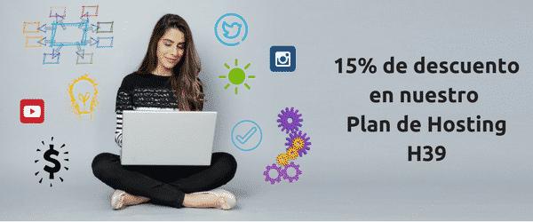 15% de descuento en Plan de Hosting H39