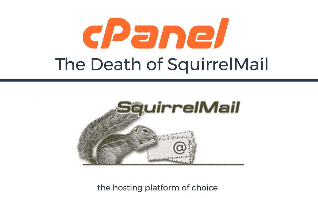 SquirrelMail llega al fin de su vida.