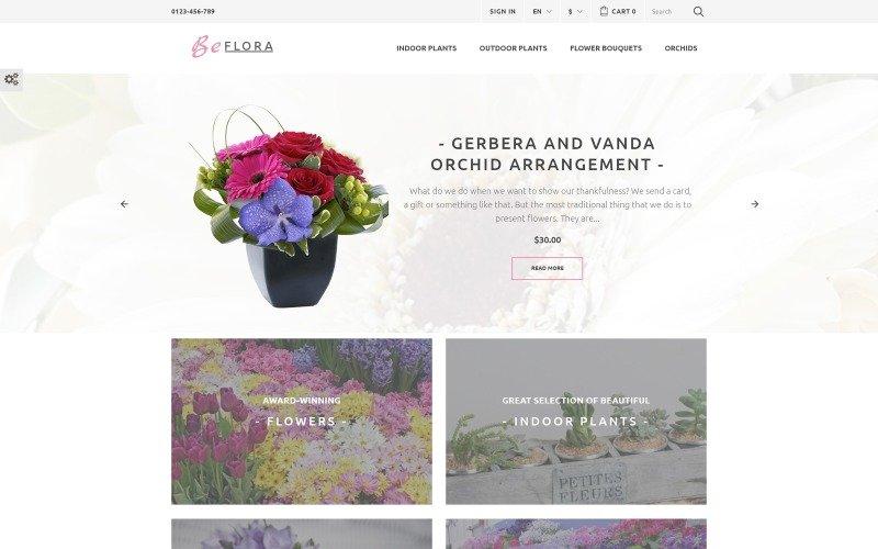 prestashop plantilla gratis flores