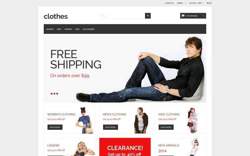 Tienda ropa prestashop gratis