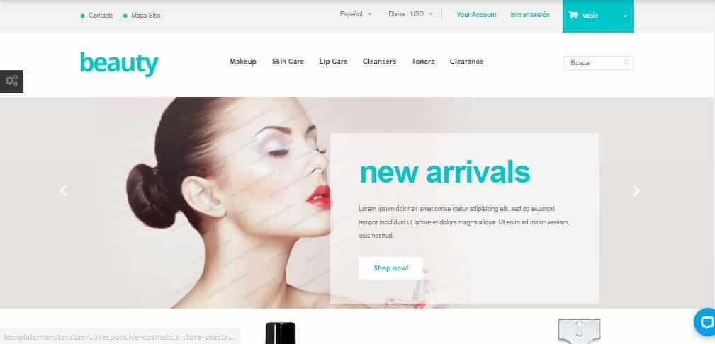 Prestashop Plantilla beauty
