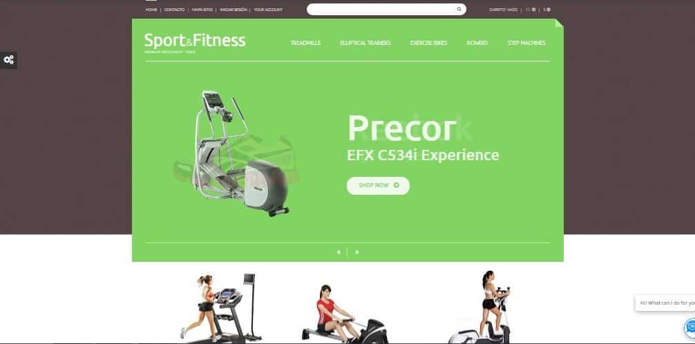 Sport and Fitness , plantilla prestashop