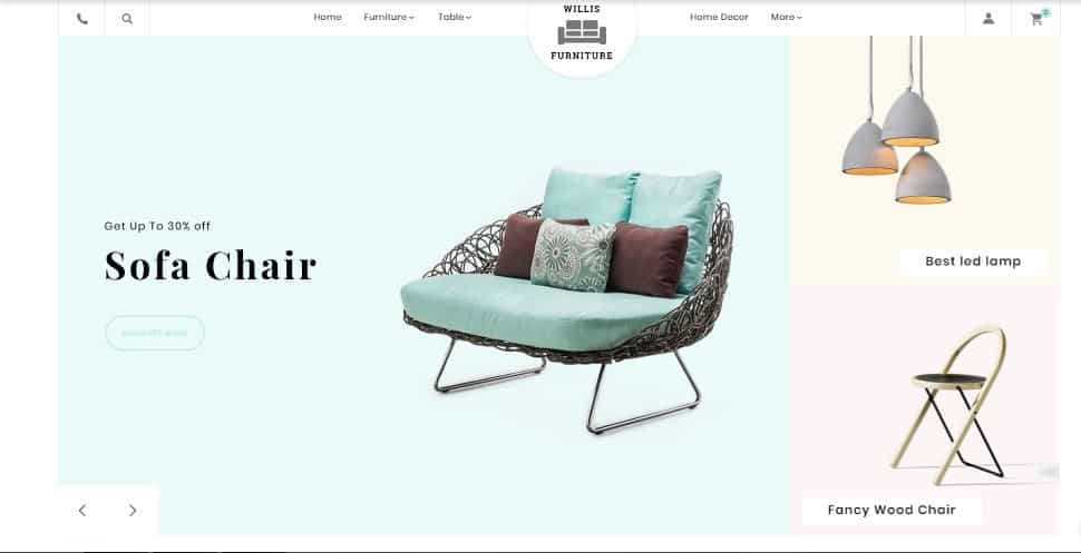 Willis furniture - template prestashop gratuito